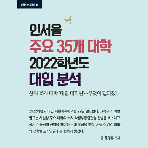 [인서울 주요 35개 대학] 2022학년도 대입 분석