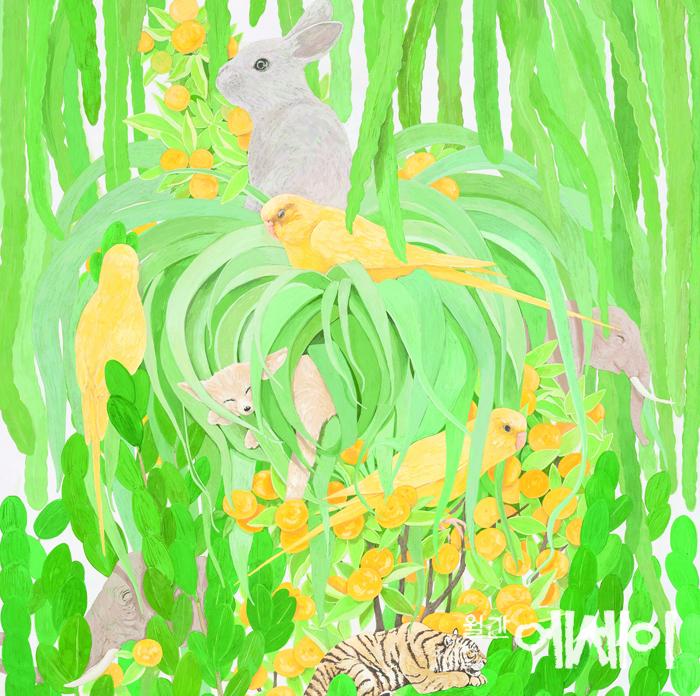 [그림이 있는 에세이] 내 인생은 꽃밭(My life is Flower Garden)  / 정현성, 화가