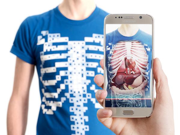 몸 속까지 보여주는 증강현실 티셔츠 버츄얼리티