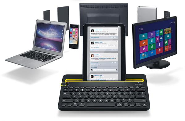 로지텍 블루투스 멀티 디바이스 키보드 K480, 모든 디바이스를 하나의 키보드로