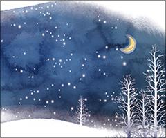 눈밭에 찍힌 아내의 발자국