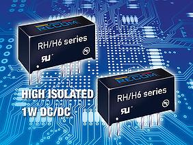 리콤, 센서 시스템 위한 6.4kVDC 절연 성능 DC/DC 컨버터 출시