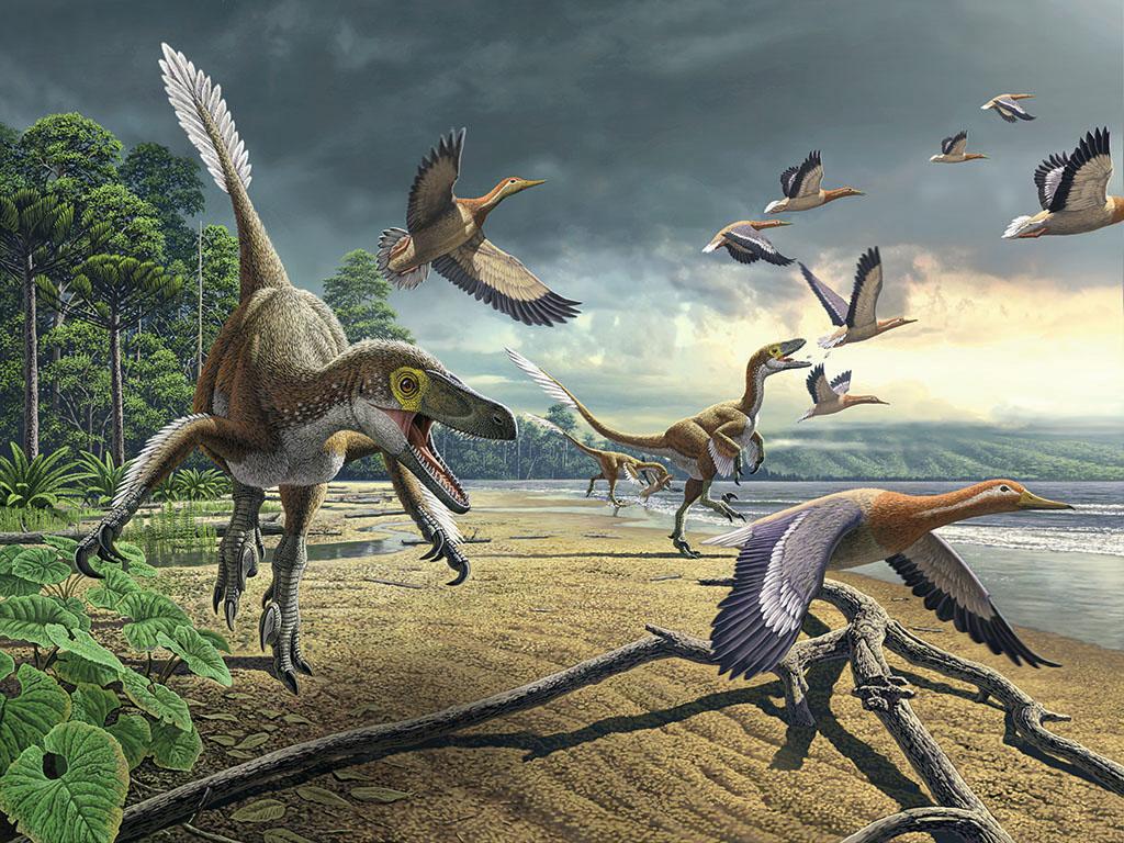 멸종되지 않은 공룡들