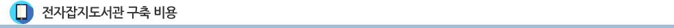 전자잡지도서관 - 구축비용